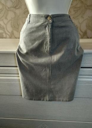 Стречевая юбка в полоску casual