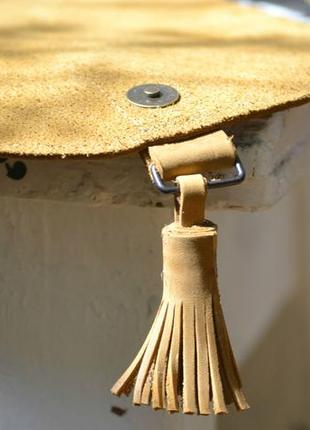 Сумка седло с монетницей из натуральной кожи3 фото