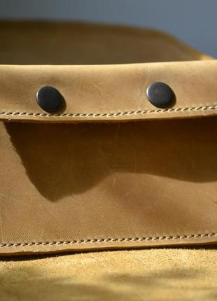 Сумка седло с монетницей из натуральной кожи4 фото