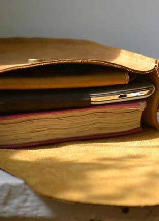 Сумка седло с монетницей из натуральной кожи5 фото