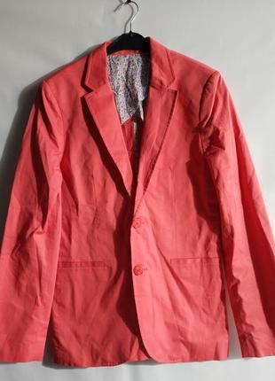 Хлопковый мужской пиджак блейзер  французского бренда promod,s, l ,xxl