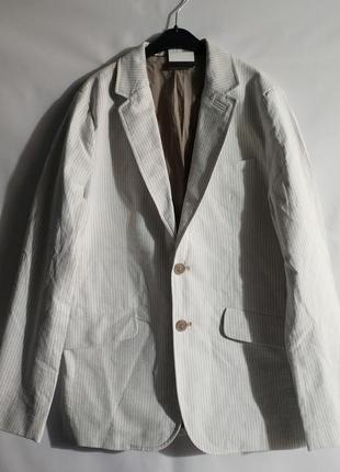 Хлопковый мужской пиджак блейзер  французского бренда promod, m,l,xl
