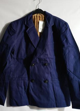 Хлопковый мужской пиджак блейзер  французского бренда promod,,xl,