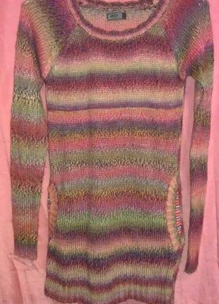 Теплая туника, удлиненный свитер