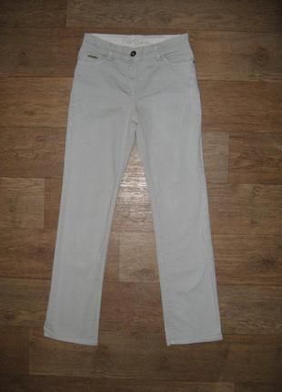 Классические джинсы, прямой крой, средняя посадка, светло-серые, р. l