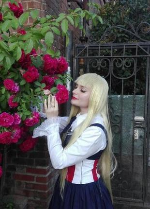 Парик золотой блонд косплей качество хеллоуин длинный 100 см