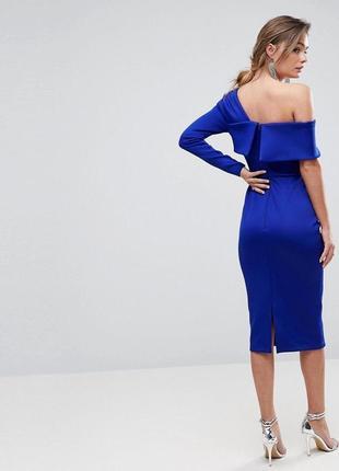 Платье цвета индиго миди от asos