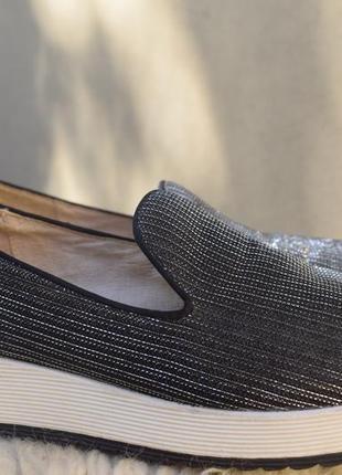 Слипоны лоферы мокасины buffalo германия р.40 26 см кожаные внутри