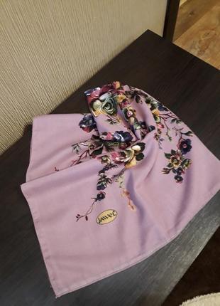 💋роскошная новинка большой  шерстяной платок лиловый качество шикарное
