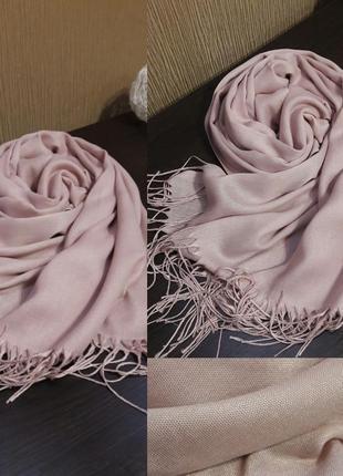 💗шикарный кашемировый шарф шаль пудра нежная