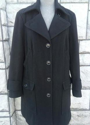 Чорне шерстяне пальто (generous by lindex)