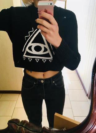 Стильный коротенький свитер от asos