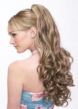 Распродажа!!! шикарная причёска-это просто! шиньон-хвост с красивыми локонами