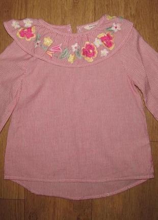 Фирменная новая блузка river islnd девочке 3-4 года