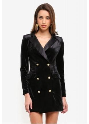 Велюровое платье пиджак missguided