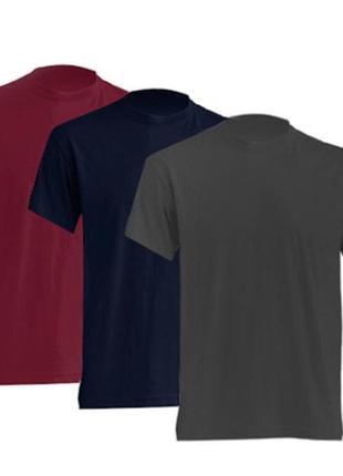Комплект мужских базовых футболок «3в1» 100% коттон испания размеры