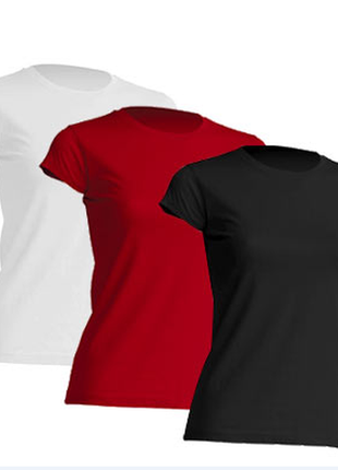 Комплект однотонных футболок «3 в 1» 100% хлопок