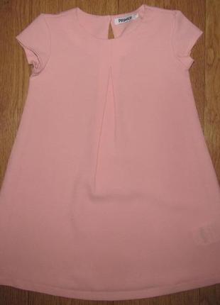 Фирменное платье цвета пудра primigi девочке 4 года