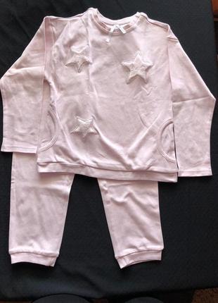 Рожева   піжамка tezenis  для дівчинки 4-5 років на ріст 104-110 см.