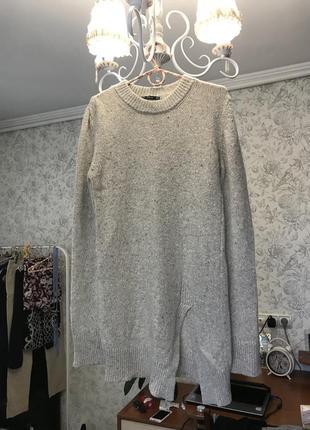 Удлиненный свитер zara с разрезом