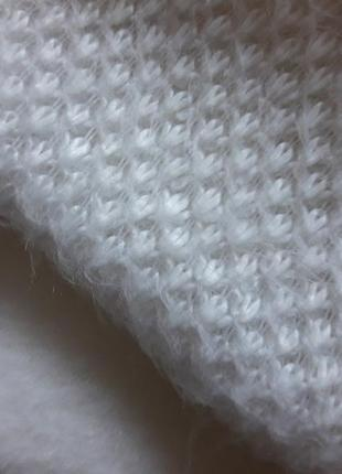 Распродажа!красивый,яркий,уютный ангоровый белый комплект на флисе,52-564