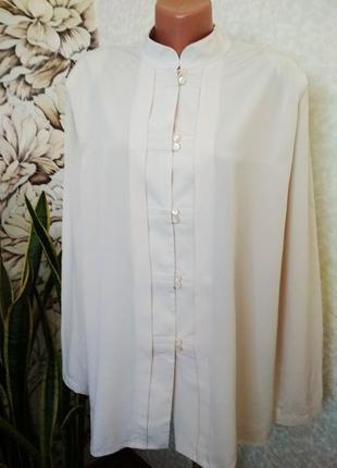 Блуза, рубашка,воротник стойка, большой размер/edgar vos/1+1= 50% скидки на 3ю вещь.