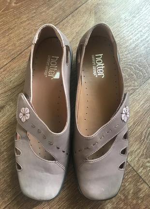 Туфли натуральная кожа матовая hotter