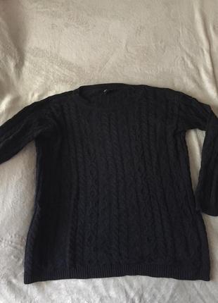 Черный свитер в косы вязаный свитер asos крупная вязка оверсайз свитер