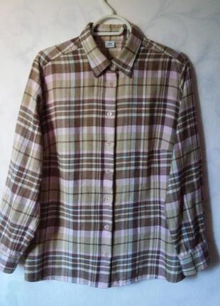 Фланелевая рубашка 100% хлопок 18-20р. walbusch