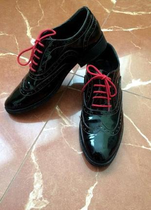 Новые туфли оксфорды женские !