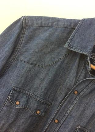 Мужская джинсовая рубашка slim fit