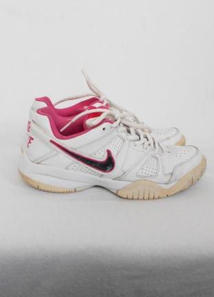 Белые кожаные спортивные кроссовки nike