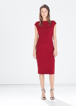 Стильное миди платье со змейкой на спине zara