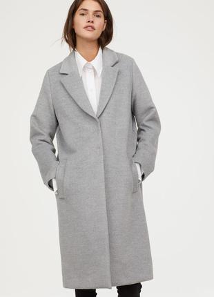 Прямое пальто, 36р (s), полиэстер 64%; вискоза 32%; эластан 4%