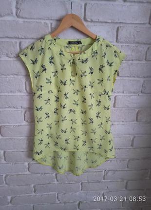 Блузка блуза футболка майка лесенка s m рубашка
