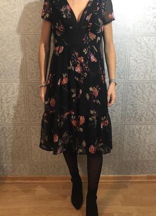 Шифоновое платье миди new look