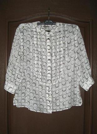 Нежная легкая шелковая блузка на кулиске, р. м