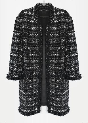 Стильное твидовое пальто из пряжи букле от известного бренда gerry weber, оригинал