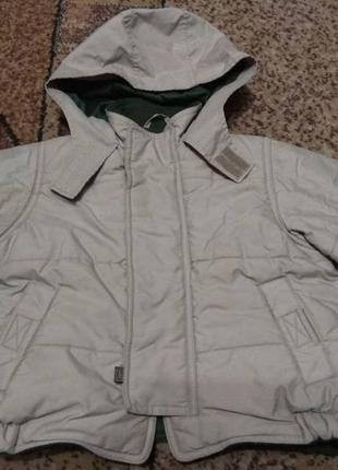 Бежевая куртка зимняя, для мальчика.