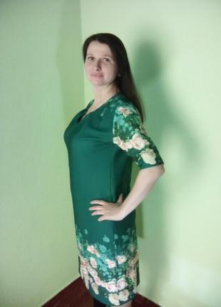 Красивое демисезонное платье 52размера