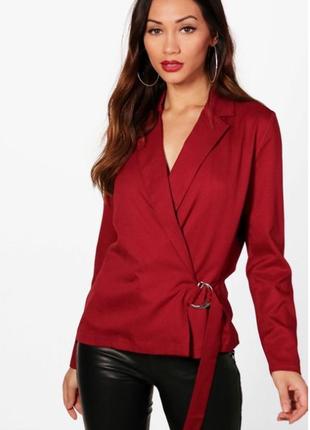 Винная блуза boohoo size 10