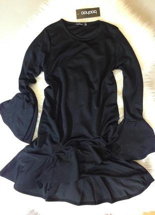 Чёрное платье ⚜️boohoo ⚜️с длинным рукавом