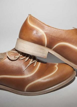 Кожаные стильные туфли (италия)