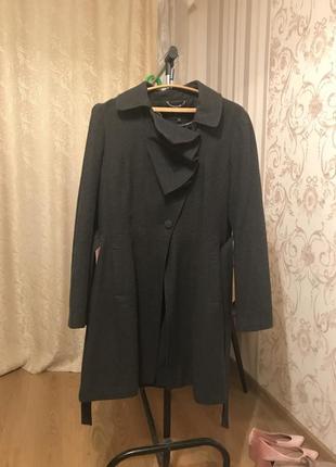 Пальто осеннее шерсть f&f