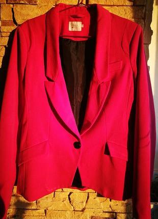Бомбический малиновый пиджак
