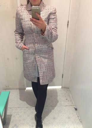 Твидовое пальто