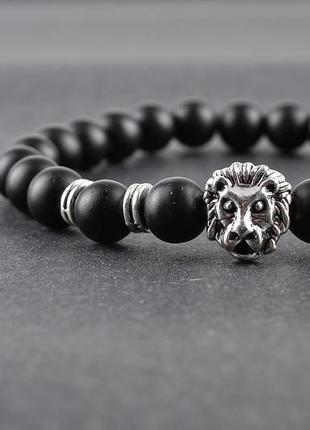 Браслет серебряный лев