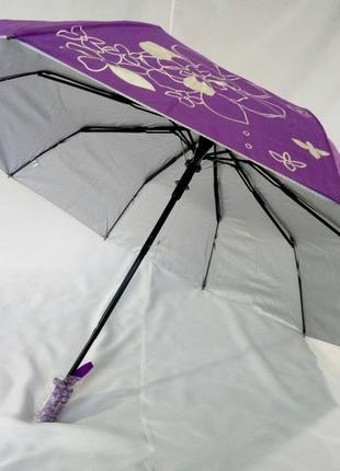 Крепкий качественный женский зонт антиветер 10 спиц карбон.
