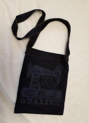 C.r.j тунис хитовая джинсовая сумка торба через плечо индиго