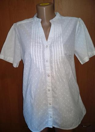 Очаровательная блузка - рубашка хлопок.